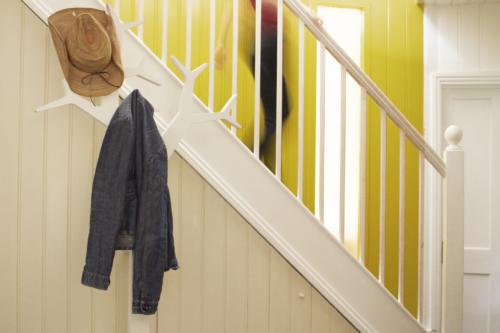 trapp panel krämvitt gult